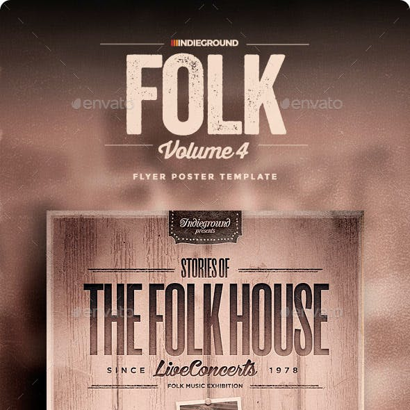 Folk Flyer/Poster Vol. 4