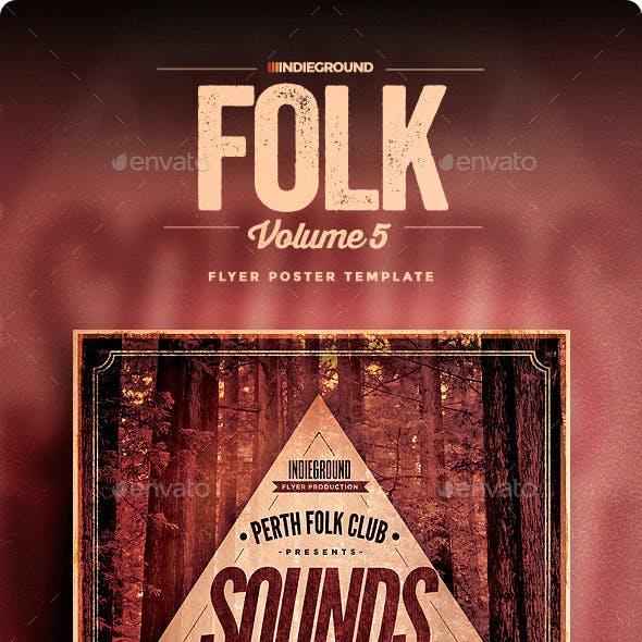 Folk Flyer/Poster Vol. 5