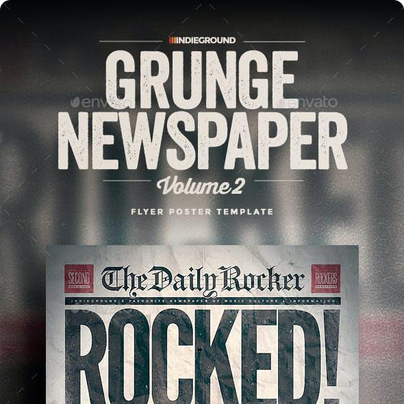 Grunge Newspaper Flyer/Poster Vol. 2