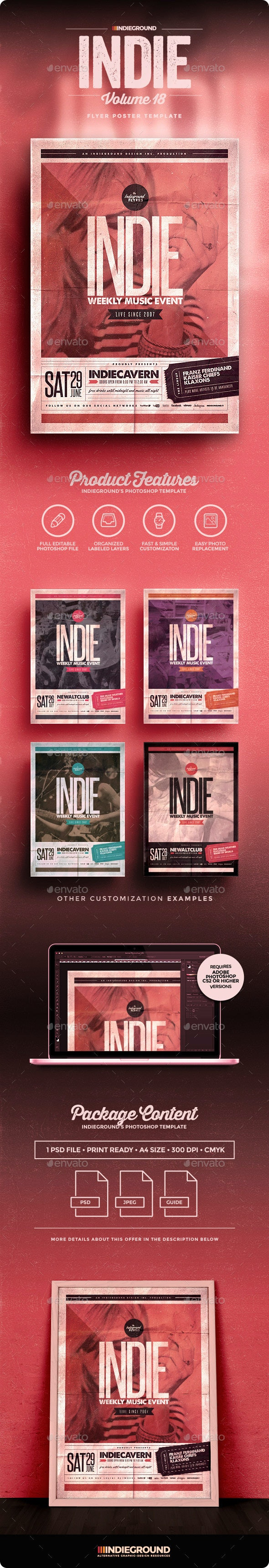 Indie Flyer/Poster Vol. 18 - Events Flyers