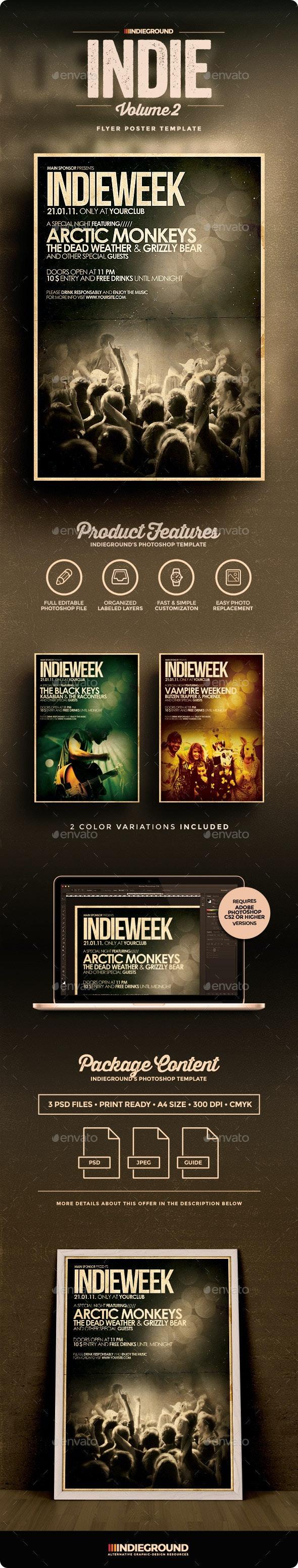 Indie Flyer/Poster Vol. 2 - Concerts Events