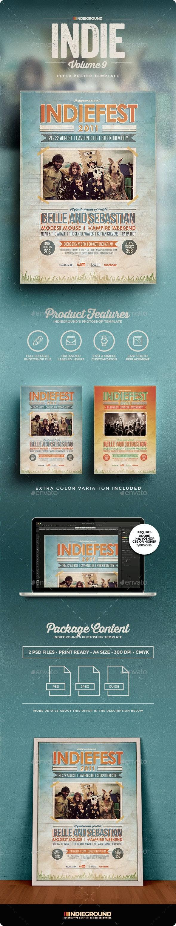 Indie Flyer/Poster Vol. 9 - Concerts Events