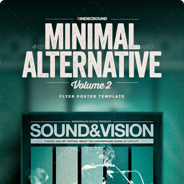 Minimal Alternative Flyer/Poster Vol. 2