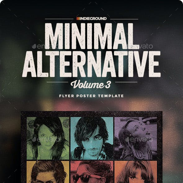 Minimal Alternative Flyer/Poster Vol. 3