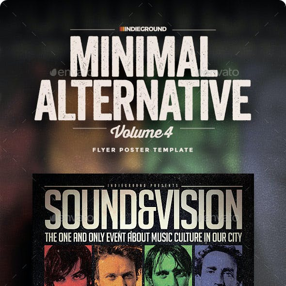 Minimal Alternative Flyer/Poster Vol. 4