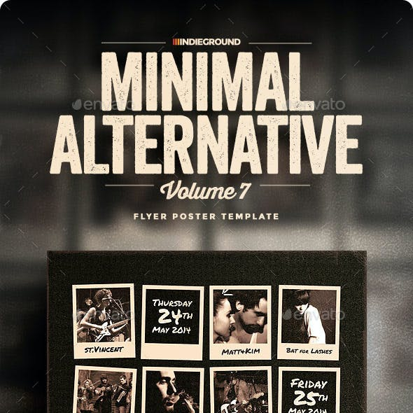 Minimal Alternative Flyer/Poster Vol. 7