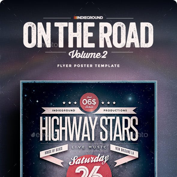 On The Road Flyer/Poster Vol. 2