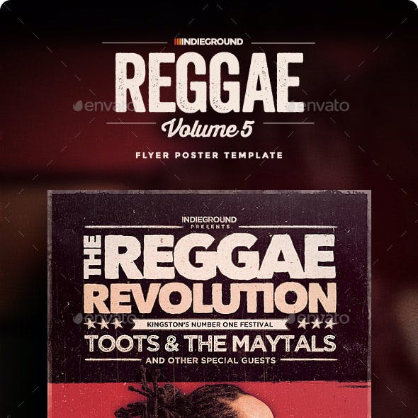 Reggae Flyer/Poster Vol. 5