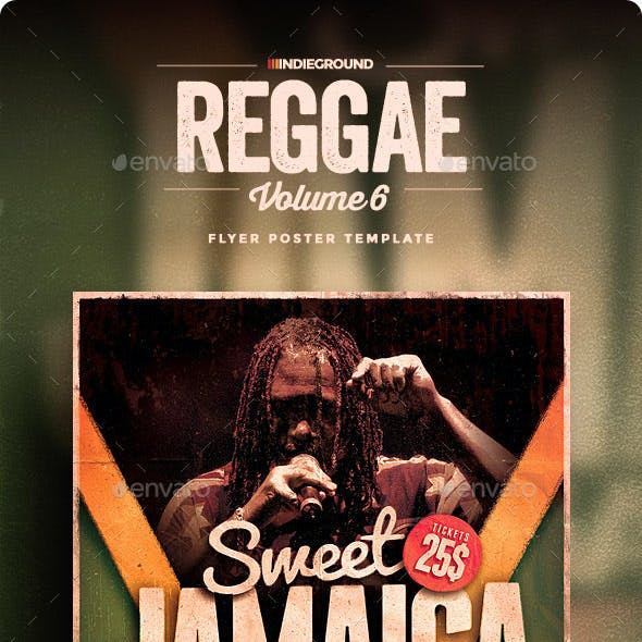 Reggae Flyer/Poster Vol. 6