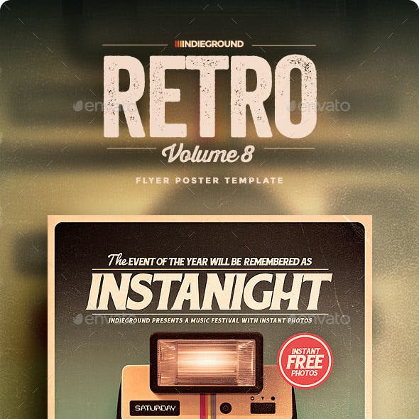 Retro Flyer/Poster Vol. 8
