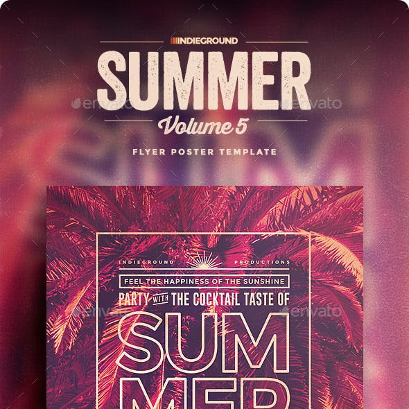 Summer Flyer/Poster Vol. 5