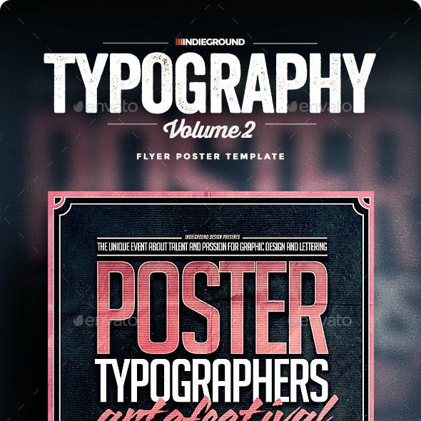 Typography Flyer/Poster Vol. 2