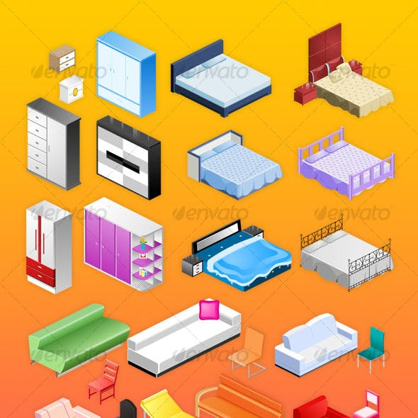 Furniture&electrical appliances icons