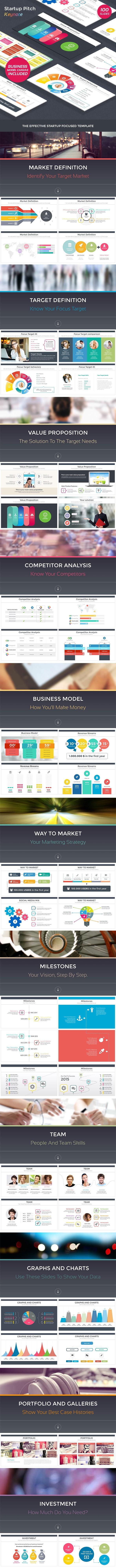 Startup Pitch Keynote - Business Keynote Templates