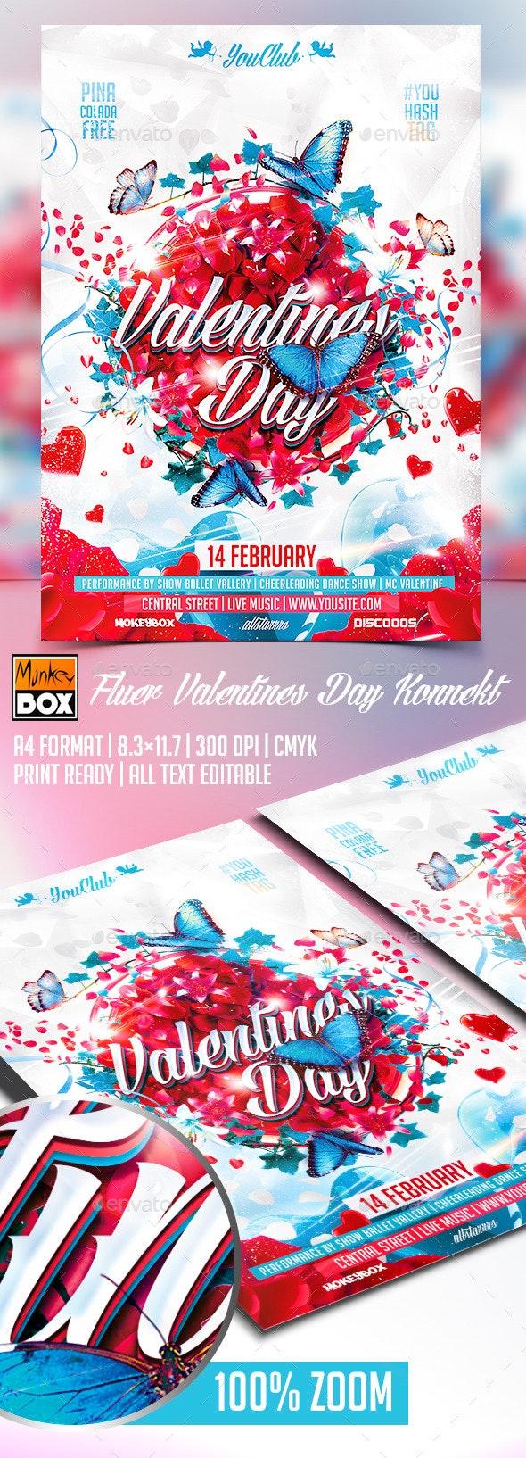 Flyer Valentines Day Konnekt - Events Flyers