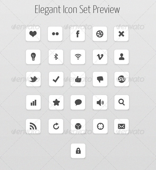 28 Vector icon set - Web Icons