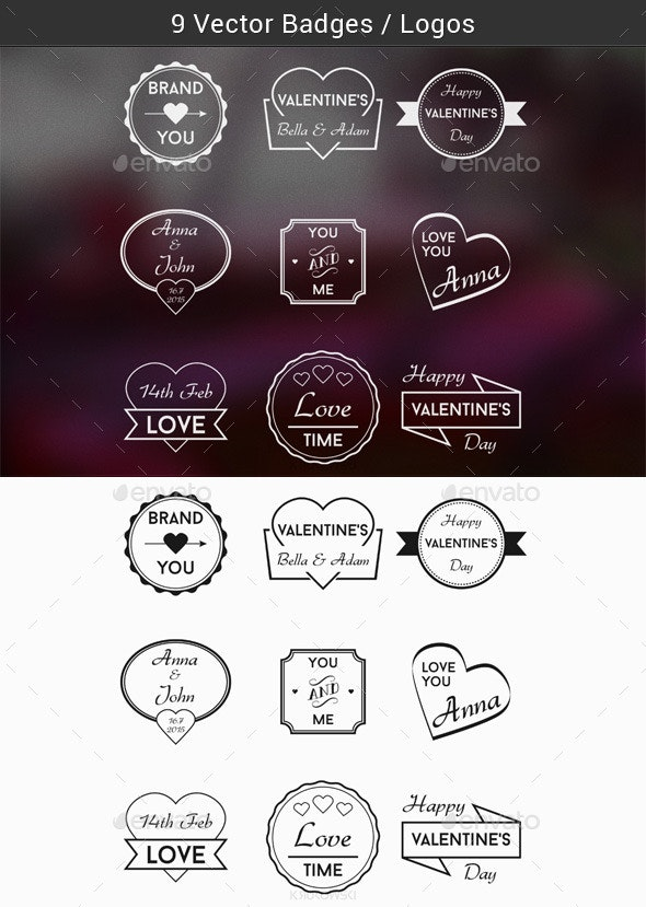 Love Badges - Badges & Stickers Web Elements