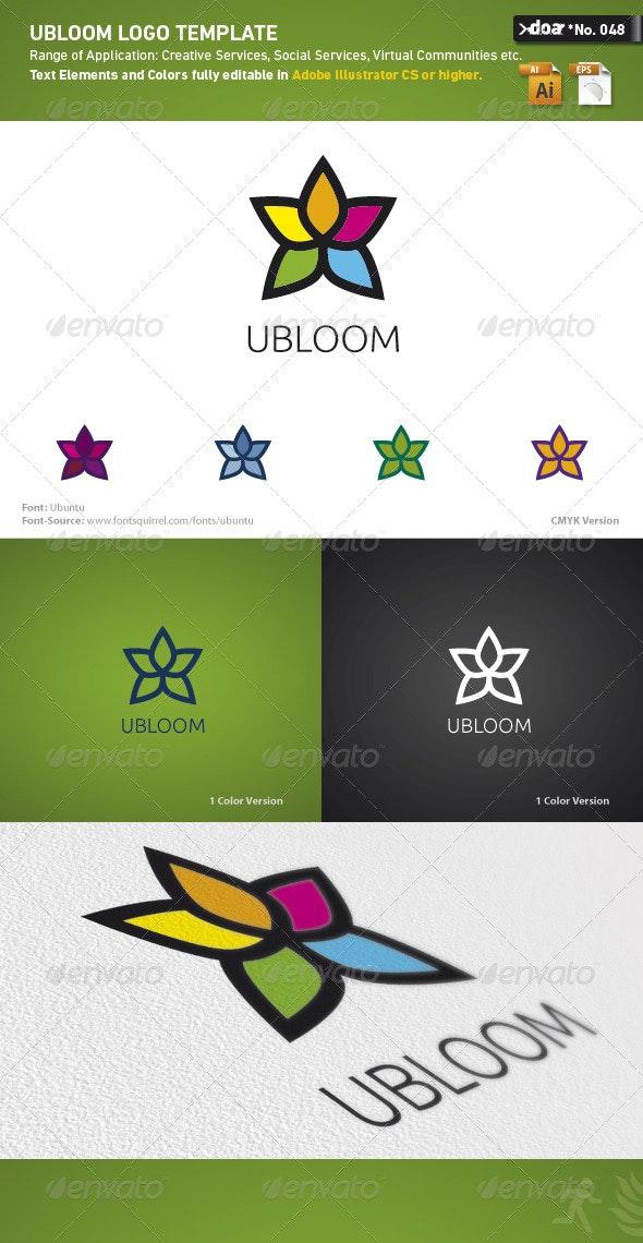 Ubloom Logo Template - Nature Logo Templates