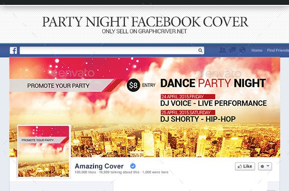 Party Night Facebook Cover - Facebook Timeline Covers Social Media