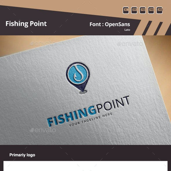 Fishing Point Logo Template