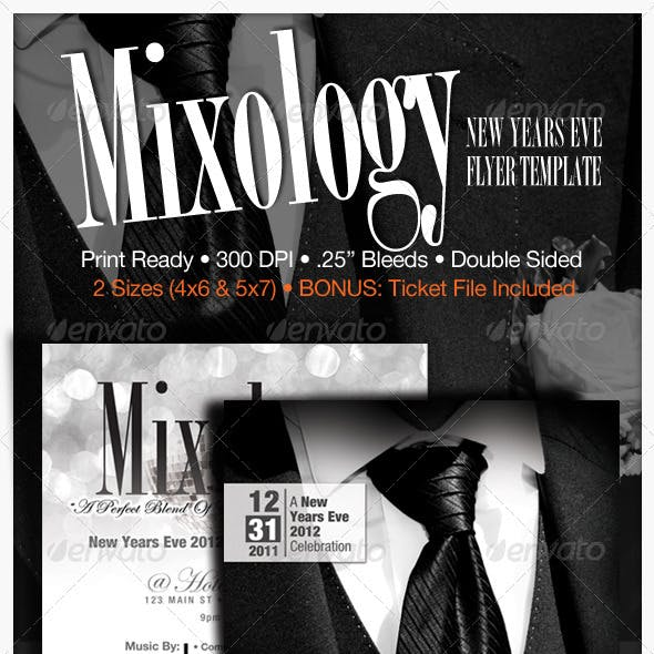 Mixology - New Years Eve Flyer