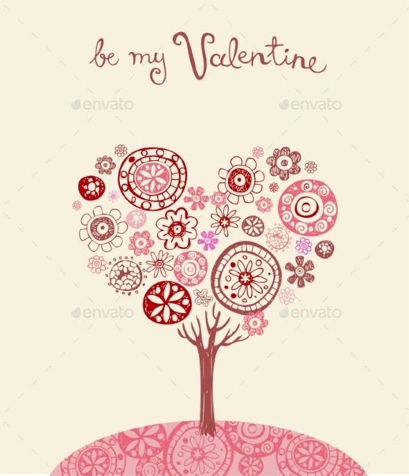 Valentine Greeting Card  - Flowers & Plants Nature