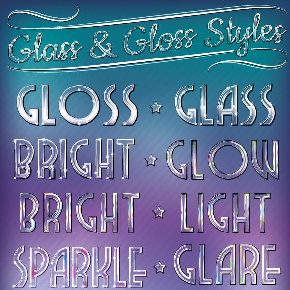 Glass & Gloss Text Styles