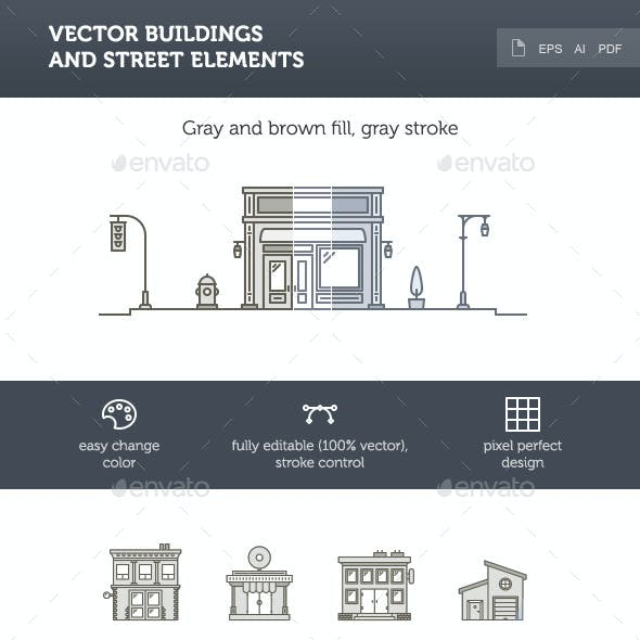 Vector Buildings and Street Elements