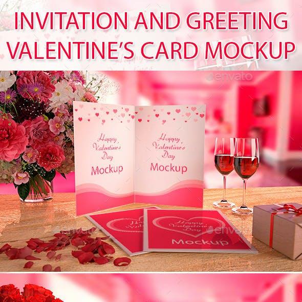 Valentine's card Mockup