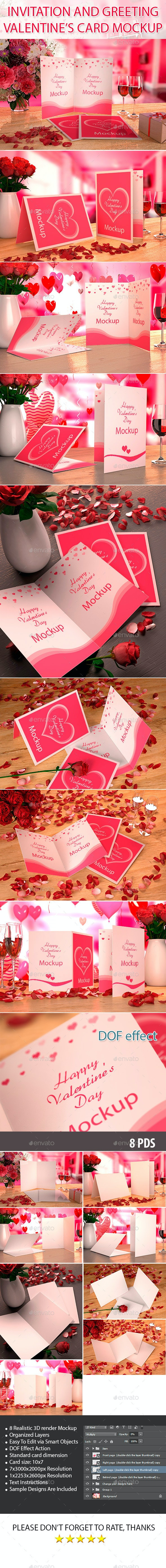 Valentine's card Mockup - Miscellaneous Product Mock-Ups