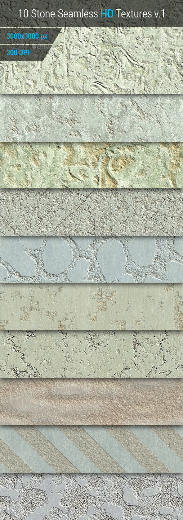 Stone Seamless and Tileable HD Textures Set - Stone Textures