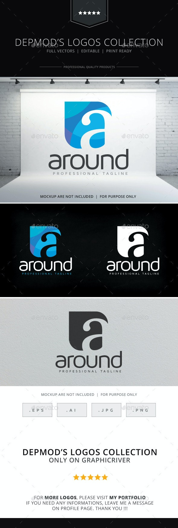 Around Logo - Letters Logo Templates