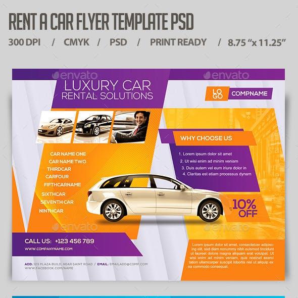 Rent a Car Flyer Template PSD