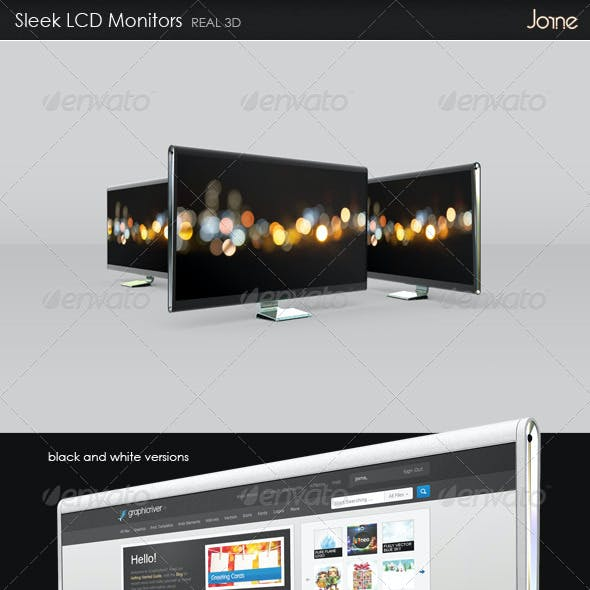 Real 3D Sleek LCD Monitor