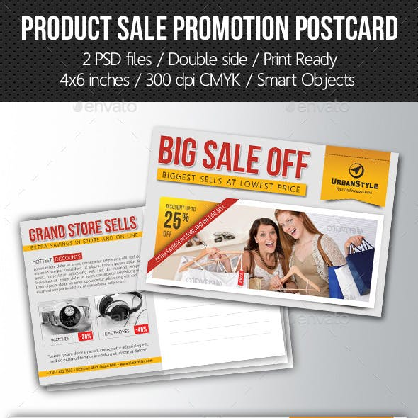 Product Sale Promotion Postcard Template