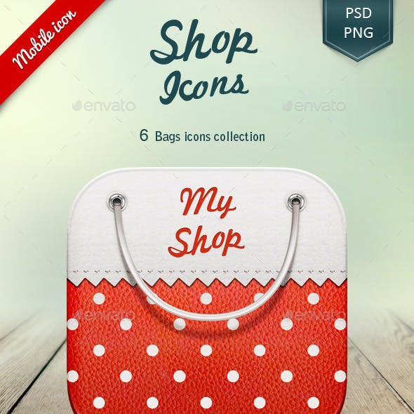 6 Bags icons collection