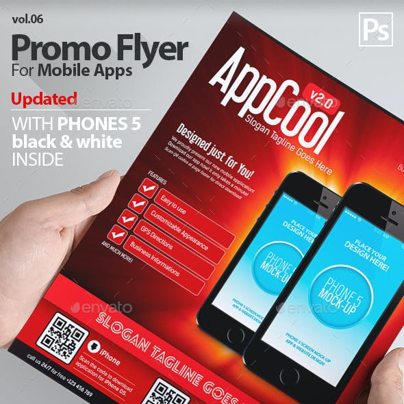 Mobile App Flyers Template 6