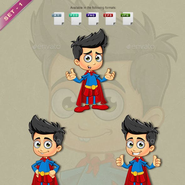 Super Boy Character - Set 1