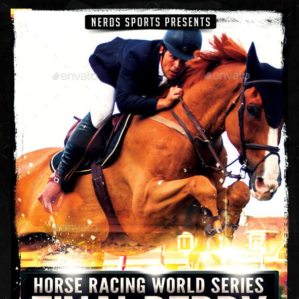 Horse Racing Championships Sports Flyer