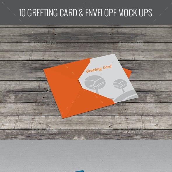 Greeting Card & Envelope Mock Ups