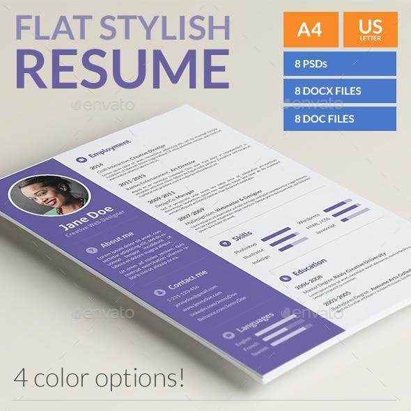 Stylish Flat Resume