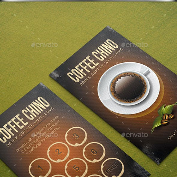 Brown Coffee Loyalty Card
