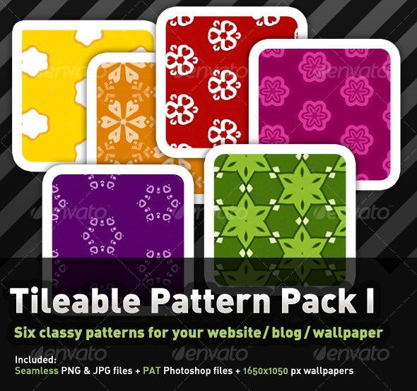 6 Colourful, tileable Pattern Pack I - Miscellaneous Textures