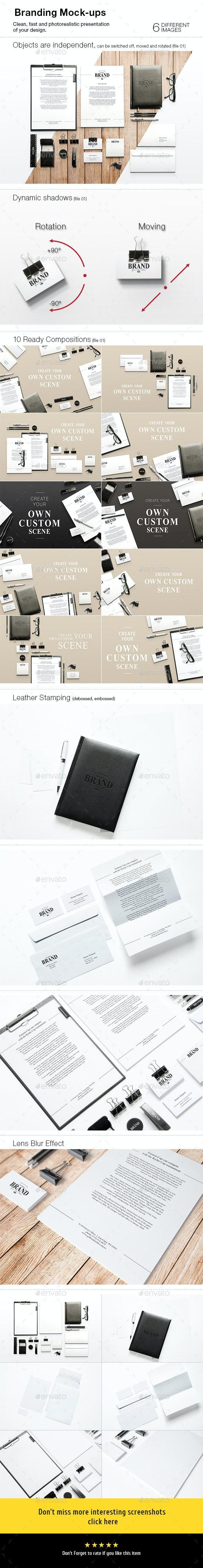 Branding Mock-Ups - Stationery Print