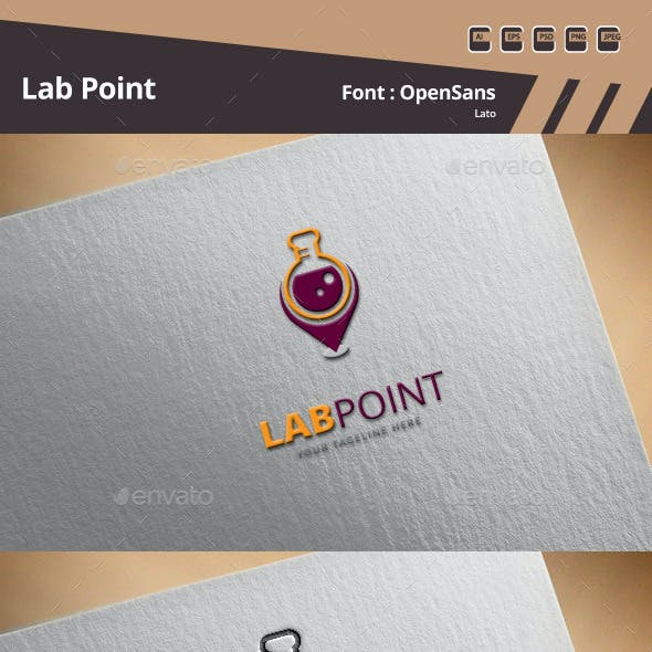Lab Point Logo Template