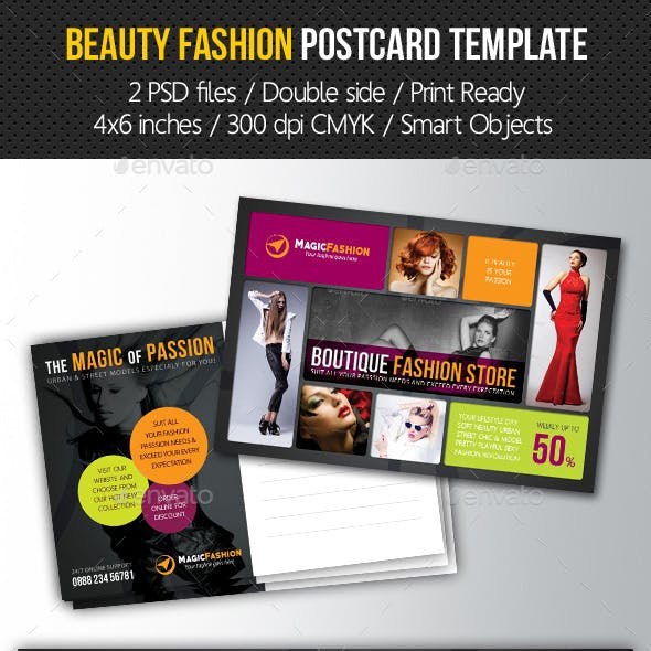 Beauty Fashion Postcard V01