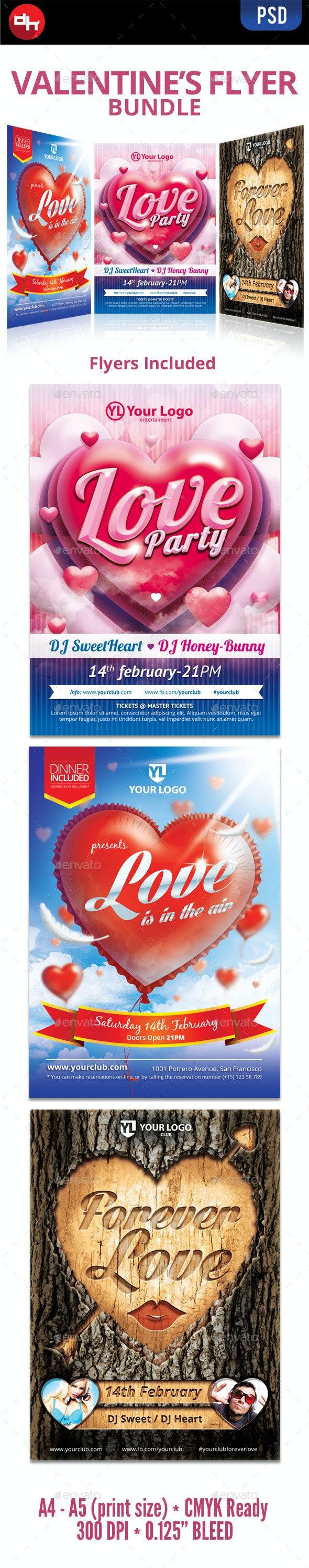 Valentine's Flyer Bundle - Holidays Events