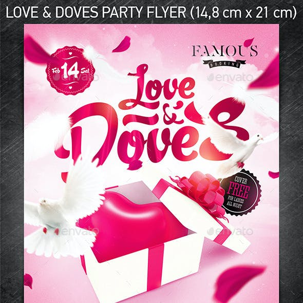Love & Doves Party Flyer