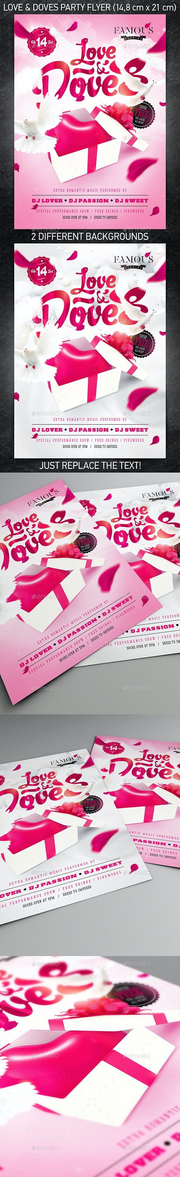 Love & Doves Party Flyer - Holidays Events