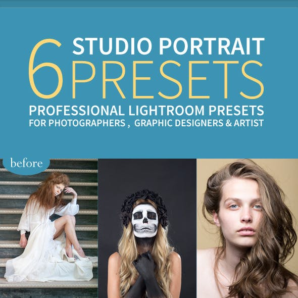 6 Pro Fashion Portrait Indoor Lightroom Presets